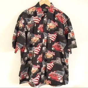 🇺🇸RedHead Hot Rod American Button Down Shirt